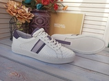 Michael Kors Irving stripe кожаные кроссовки