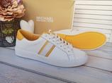 Кожаные кроссовки Michael Kors Irving stripe