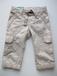 летние бежевые штаны Benetton