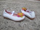Кожаные белые балетки туфли Pablosky